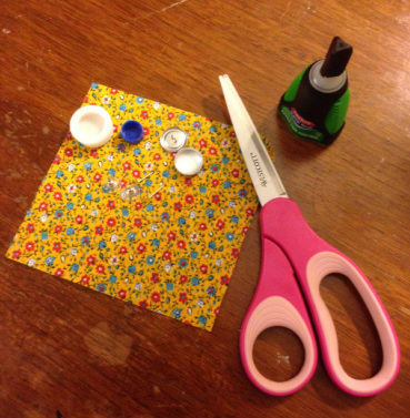 Supplies for DIY fabric earrings