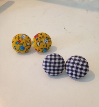 DIY Cover Button Earrings